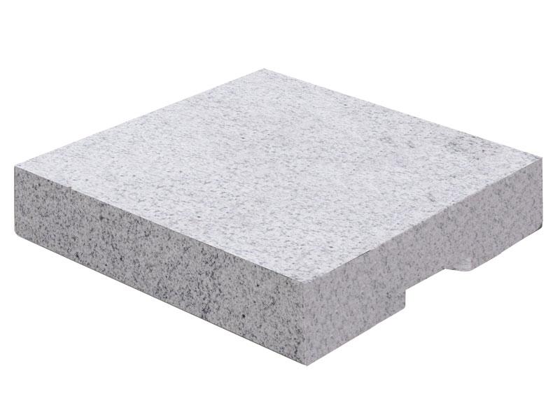 Doppler Granit Design-Platte ECO 55kg grau 50x50cm Bild 1