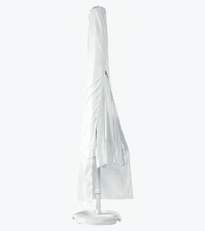 Schirmhülle / Schutzhülle für Sonnenschirm Ø200cm PE weiß Bild 1
