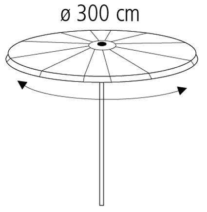 Schutzhülle Deluxe Wehncke für Schirme Ø 300cm anthrazit Bild 2