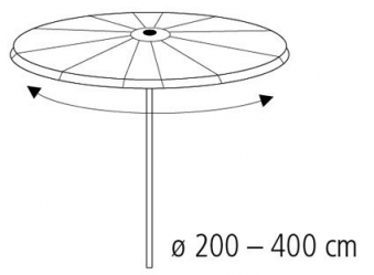 Schutzhülle Wehncke Classic für Ampelschirm Ø 200 - 400 cm transparent Bild 2