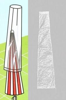 Siena Garden Schutzhülle / Schirmhülle Ø 180-200cm transparent Bild 1