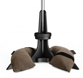 Baser Sonnenschirmständer 30kg dunkelbraun Bild 1
