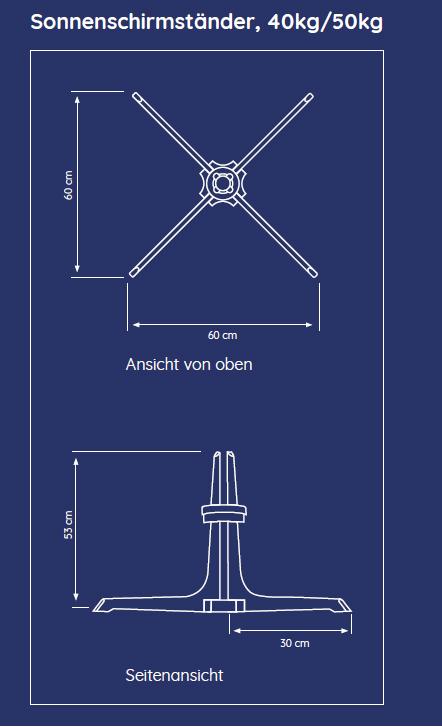 Baser Sonnenschirmständer 50kg dunkelbraun Bild 2
