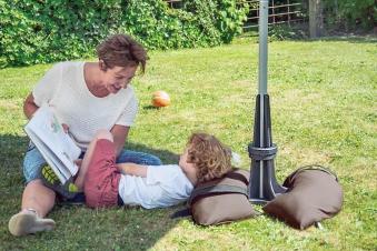Baser Sonnenschirmständer 50kg dunkelbraun Bild 4