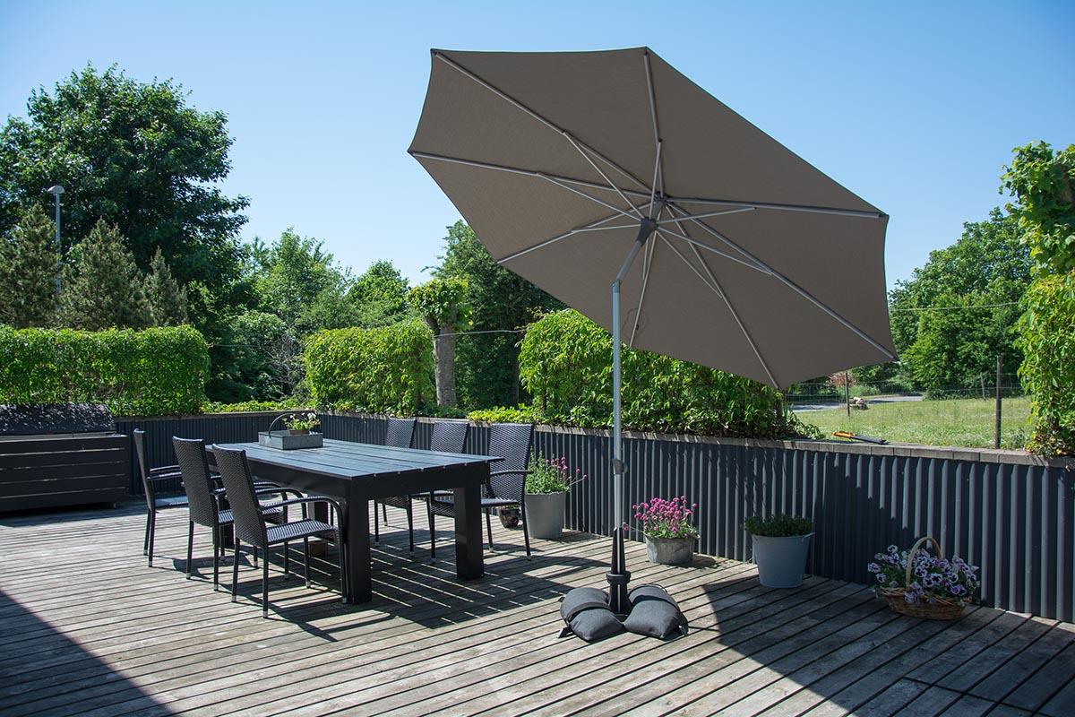 Baser Sonnenschirmständer 50kg dunkelgrau Bild 4