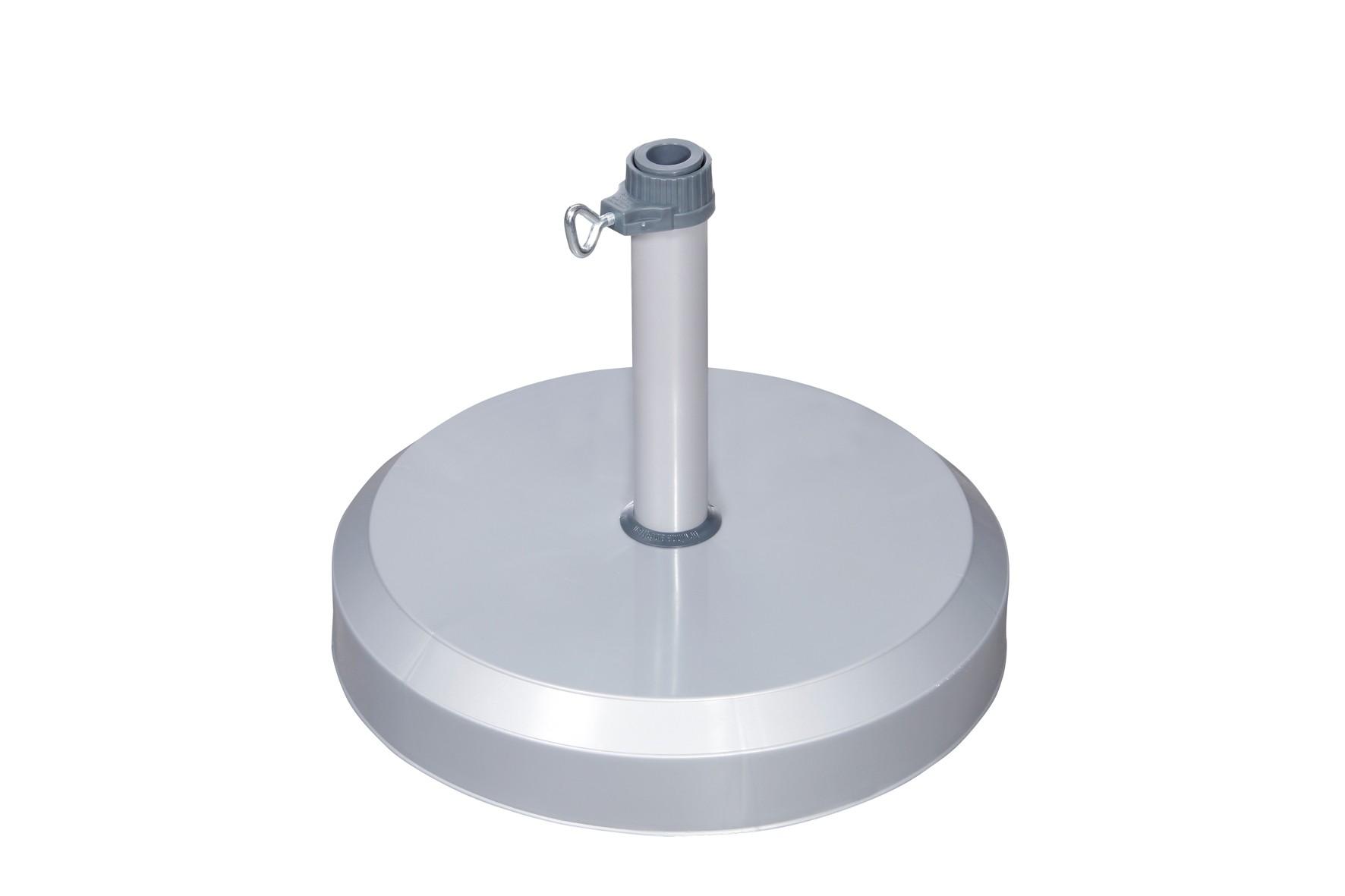 Doppler Sonnenschirmständer Betonsockel 25kg silber Rohr-Ø 19-25mm Bild 1