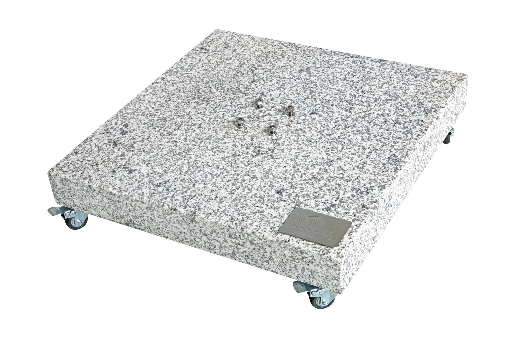 Doppler Sonnenschirmständer Grundplatte Granitplatte 140kg 80x80x14cm Bild 1
