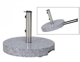 Siena Garden Sonnenschirmständer Trolley rund Granit 40kg Ø 25-48mm Bild 1