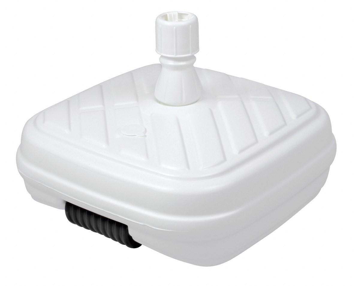 Sonnenschirmständer Doppler PE-Design-Füllsockel 50 kg Ø 33-48 mm weiß Bild 1