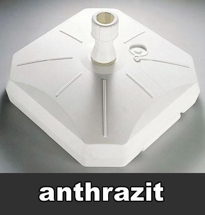Sonnenschirmständer Kunststoff 50 - 80 kg anthrazit Ø 30 - 55 mm Bild 1