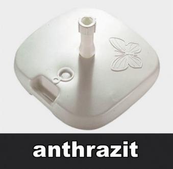 Sonnenschirmständer Kunststoff bis 26 kg Ø18-32mm anthrazit Bild 1