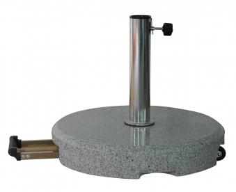Sonnenschirmständer Zangenberg Granit 55kg rund rollbar Ø 26-55 mm Bild 1