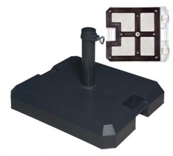 sonnenschirmst nder doppler profirollsockel 42 kg 26 50mm anthrazit bei. Black Bedroom Furniture Sets. Home Design Ideas
