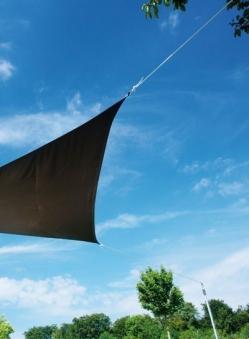 Doppler Mast 220cm mit Standfuß für Sonnensegel Alupro Bild 2