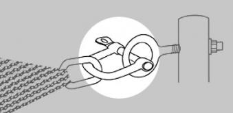 Doppler Schäkel für Sonnensegel Darwin Bild 1