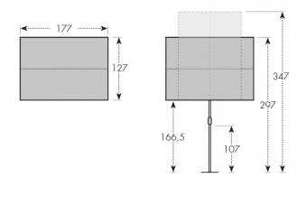 Doppler Sonnenschirm / Active Balkonblende 180x130cm D 836 grün Bild 12
