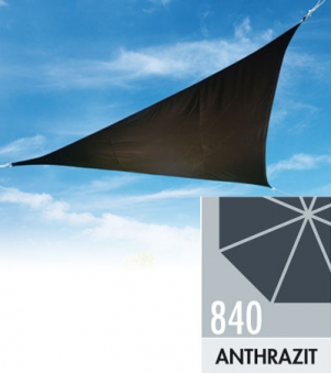 Doppler Sonnensegel Alupro Dreieck 360x360x360cm anthrazit Bild 1