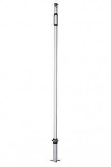 Doppler Mast 220cm mit Standfuß für Sonnensegel Alupro