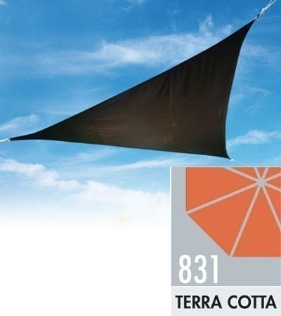 Doppler Sonnensegel Alupro Dreieck 500x500x500cm terra cotta Bild 1