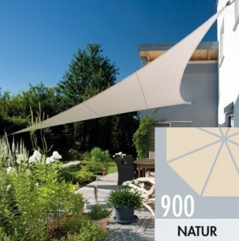 Doppler Sonnensegel Darwin Dreieck 500x500x500 cm natur Bild 1