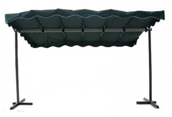 Standmarkise / Markise Cleo schwarz / grün Stahl Bild 1