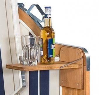 Seitentisch für Sunny Smart Strandkorb Rustikal 250 Plus