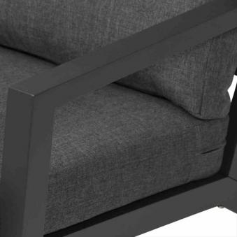 Aluminium Lounge Sessel Siena Garden Belia anthrazit/grau Bild 3