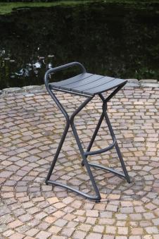 Barhocker / Hocker zur Leco Gartentheke anthrazit 43,5x51x85cm Bild 2