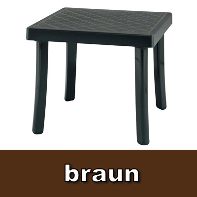 gartenhocker beistelltisch rodi kunststoff braun bei. Black Bedroom Furniture Sets. Home Design Ideas