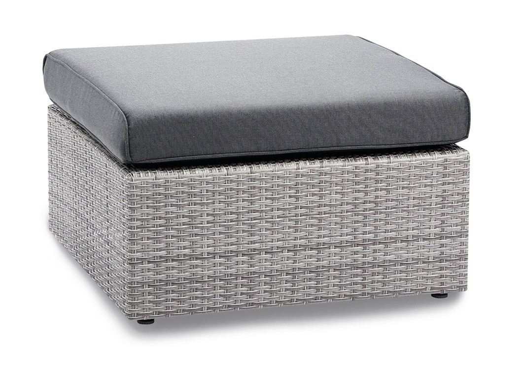 gartenhocker fu teil loungem bel bonaire polyrattan grau. Black Bedroom Furniture Sets. Home Design Ideas