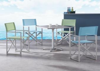 Gartensessel / Campingsessel / Regiestuhl Messina Best creme/ hellgrün Bild 3