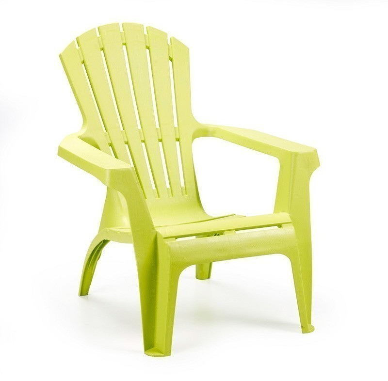 Gartensessel / Deckchair Dolomiti stapelbar limegrün Kunststoff Bild 1