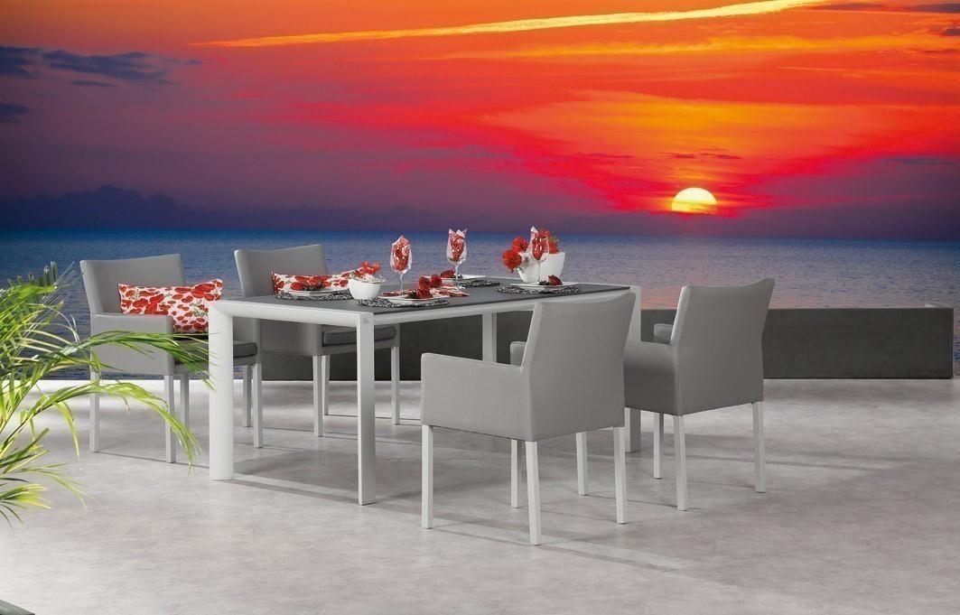 Gartensessel / Dining-Sessel Tobago Best Alu creme / Textil taupe Bild 2
