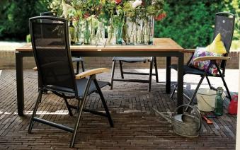 Gartensessel / Gartenstuhl stapelbar Raffaello Hartman Alu anthrazit Bild 2
