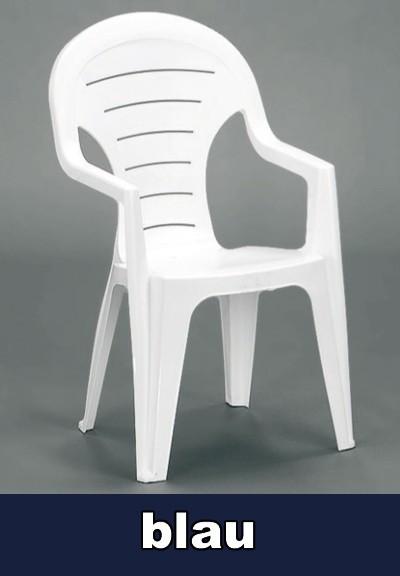 gartensessel hochlehner stapelbar bonaire blau kunststoff. Black Bedroom Furniture Sets. Home Design Ideas