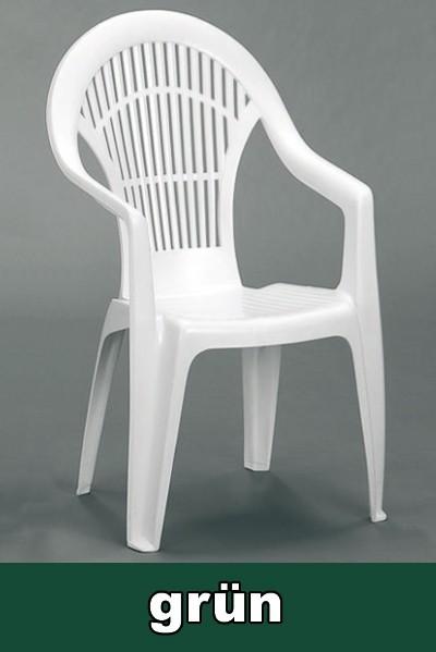 gartensessel hochlehner stapelbar vega gr n kunststoff bei. Black Bedroom Furniture Sets. Home Design Ideas