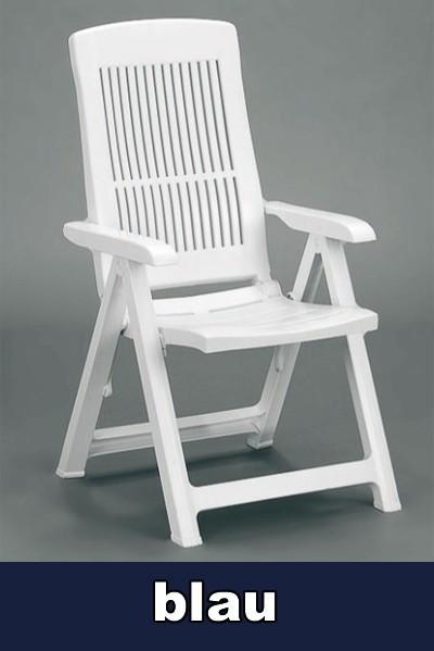 gartensessel klappstuhl klappbar tampa blau kunststoff. Black Bedroom Furniture Sets. Home Design Ideas