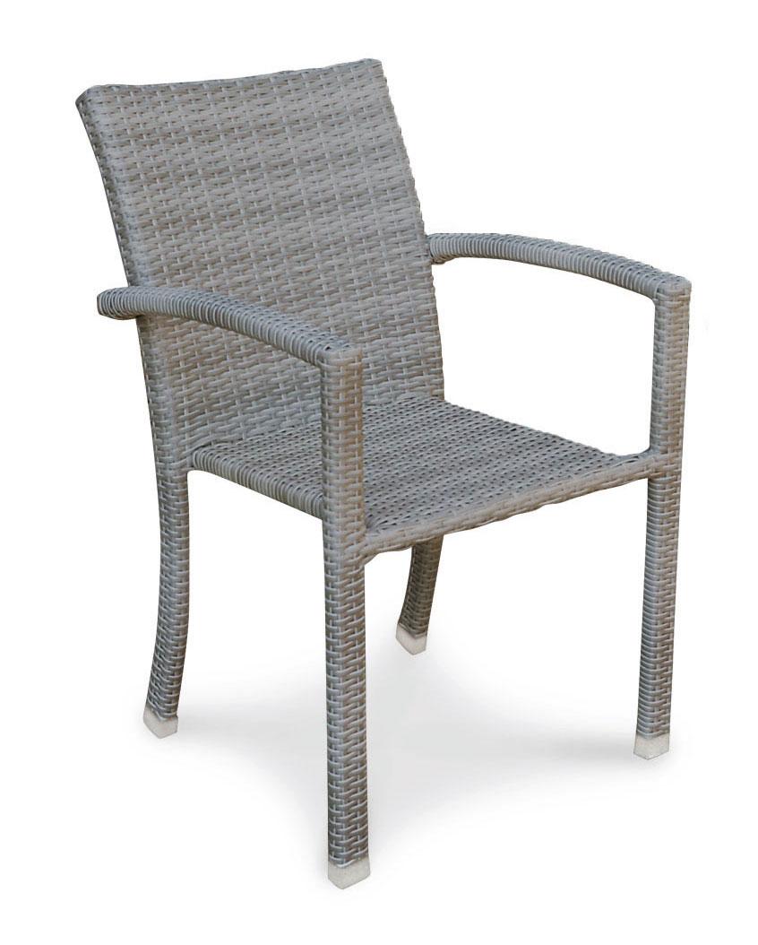 gartensessel korbsessel samoa stapelbar grau bei. Black Bedroom Furniture Sets. Home Design Ideas