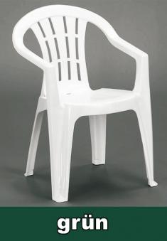 gartensessel niederlehner stapelbar cuba gr n kunststoff. Black Bedroom Furniture Sets. Home Design Ideas