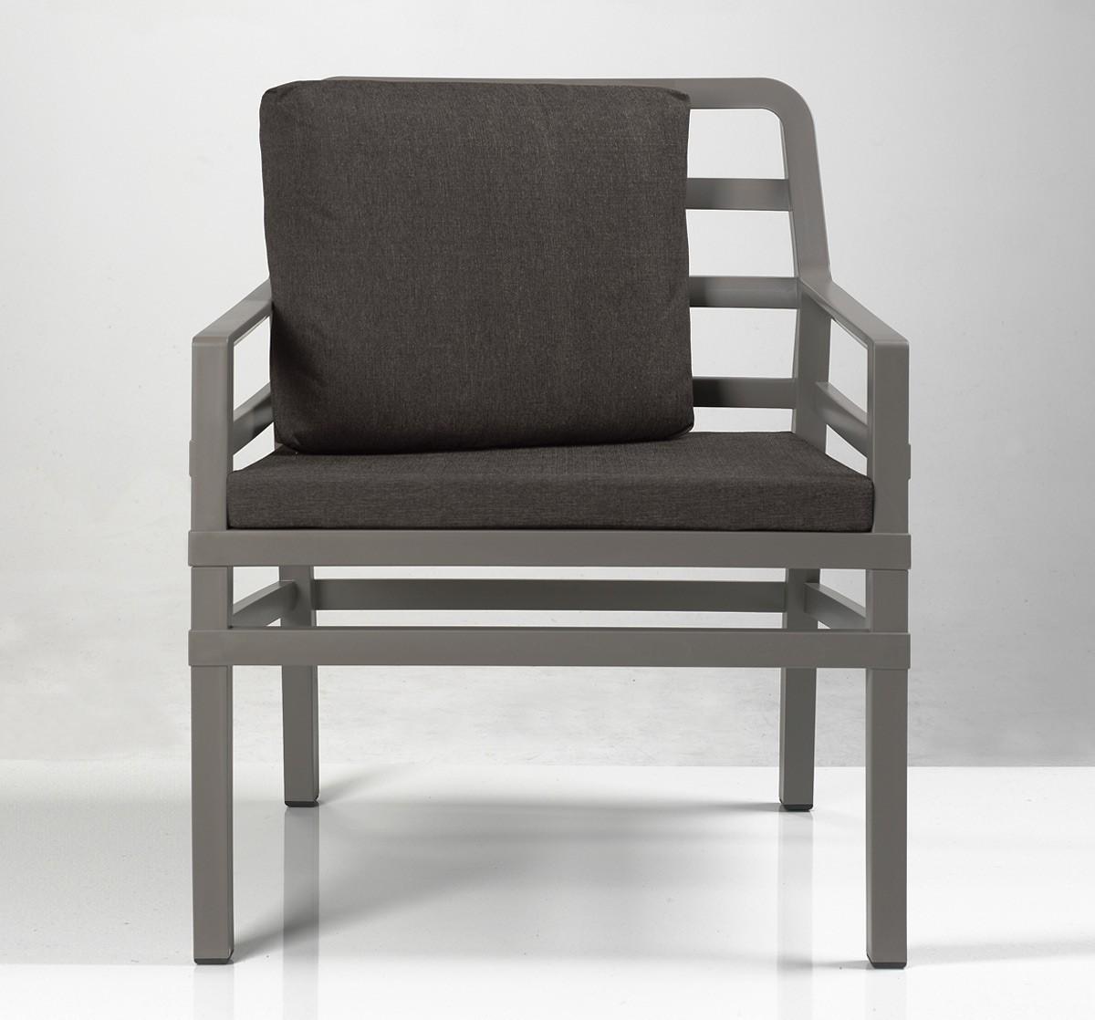 gartensessel sofa lounge aria kunststoff grau braun kissen kaffee bei. Black Bedroom Furniture Sets. Home Design Ideas