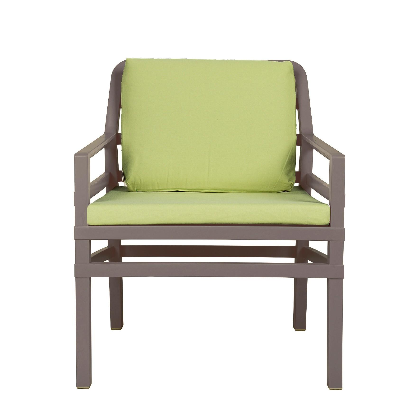 gartensessel sofa lounge aria kunststoff taupe kissen. Black Bedroom Furniture Sets. Home Design Ideas