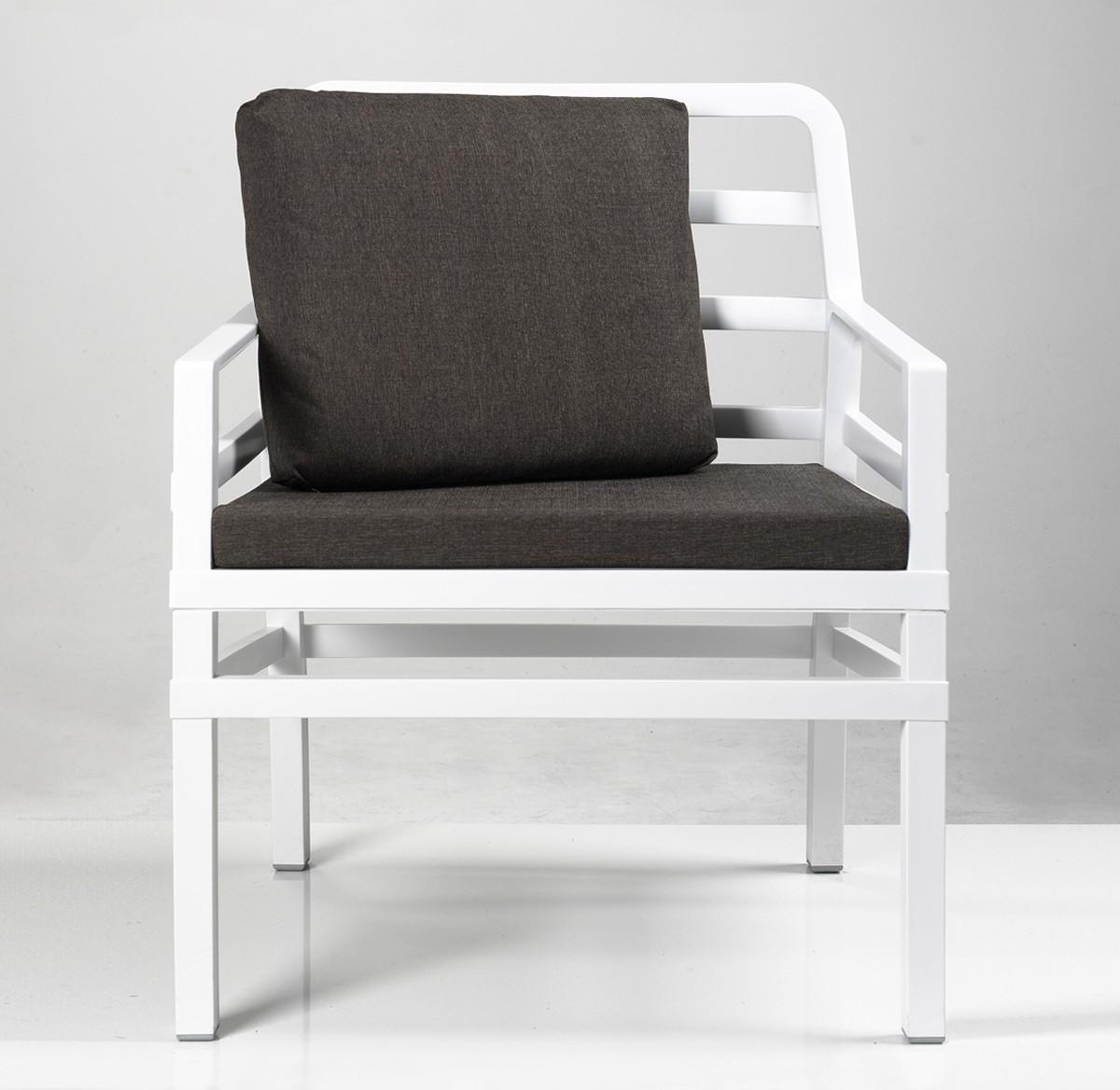 gartensessel sofa lounge aria kunststoff wei kissen kaffee bei. Black Bedroom Furniture Sets. Home Design Ideas
