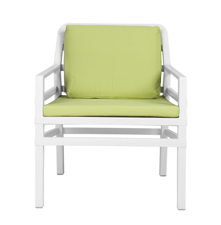 gartensessel sofa lounge aria kunststoff wei kissen lime bei. Black Bedroom Furniture Sets. Home Design Ideas