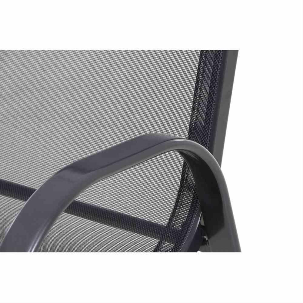 Gartensessel / Stapelstuhl Saturn Alu anthrazit / Textil schwarz Bild 3