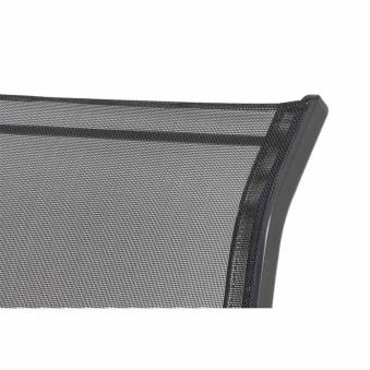 Gartensessel / Stapelstuhl Saturn Alu anthrazit / Textil schwarz Bild 2
