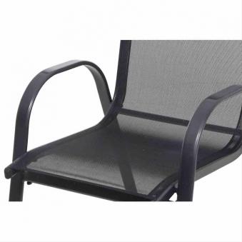 Gartensessel / Stapelstuhl Saturn Alu anthrazit / Textil schwarz Bild 5