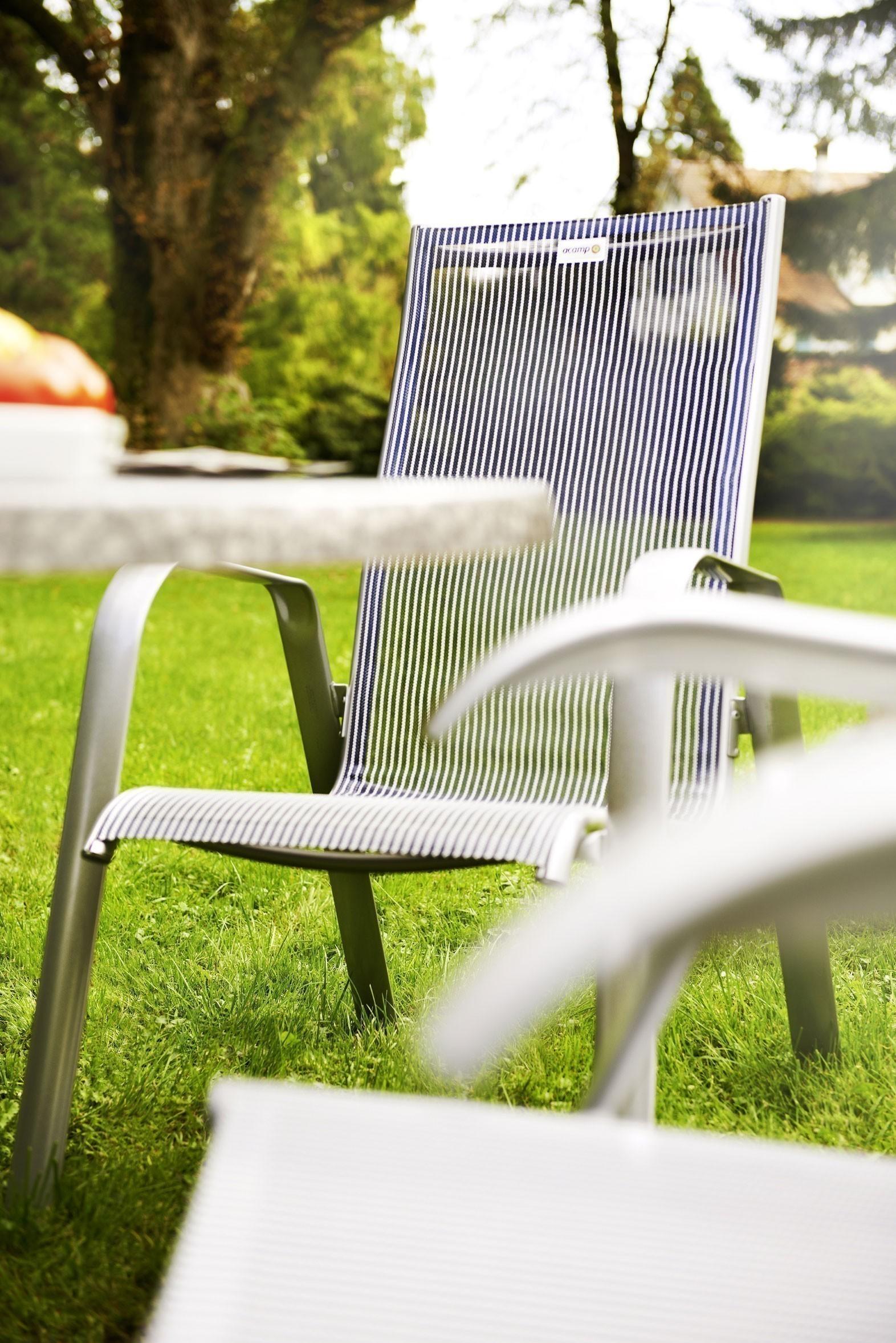 Gartensessel stapelbar Acamp Acatop hoch Alu platin / grigio Bild 2