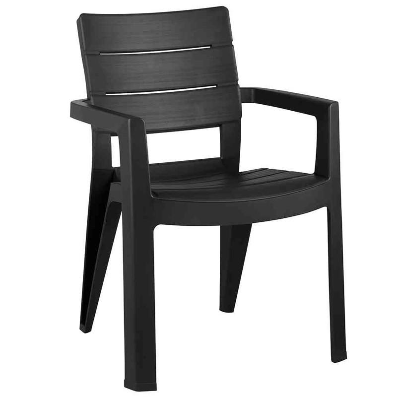 gartenstuhl gartensessel ibiza stapelbar kunststoff graphit bei. Black Bedroom Furniture Sets. Home Design Ideas