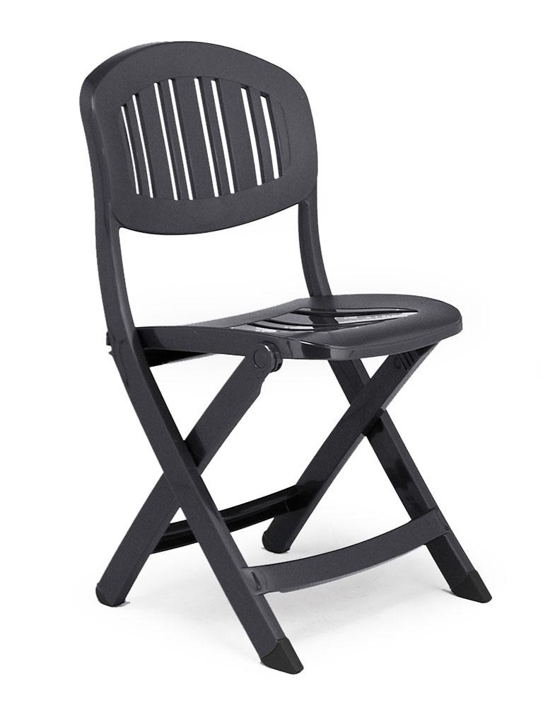 gartenstuhl klappstuhl capri klappbar kunststoff anthrazit bei. Black Bedroom Furniture Sets. Home Design Ideas