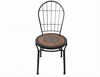 Gartenstuhl / stapelbar Siena Garden Prato Stahl/Mosaik/schwarz Bild 1